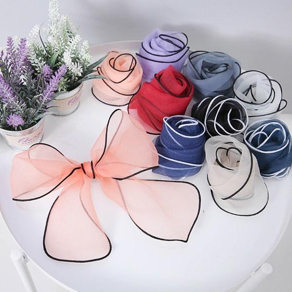 [YY-SC034] See-through petit scarf