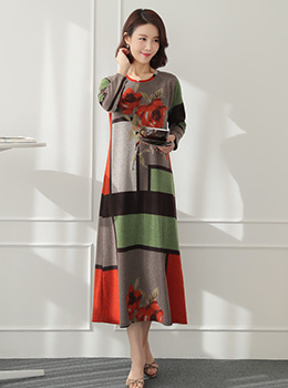 [YY-HW039] Color Way Home Dress