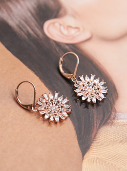 [YY-AC106] Gold Cubic Earrings