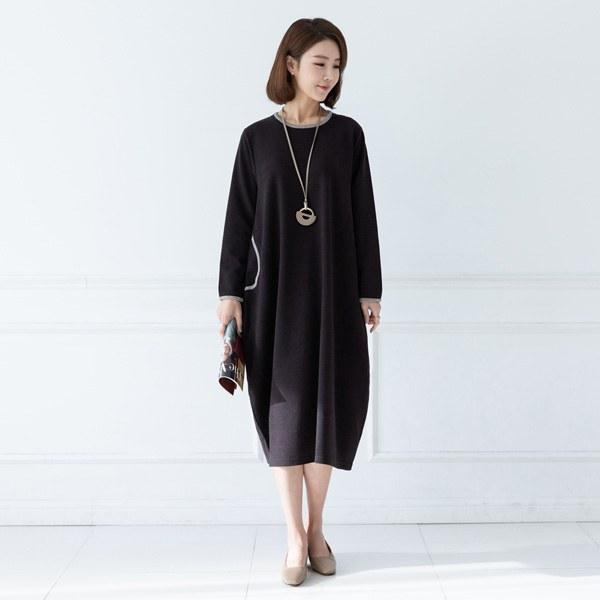 YY-HW067 plain color dress
