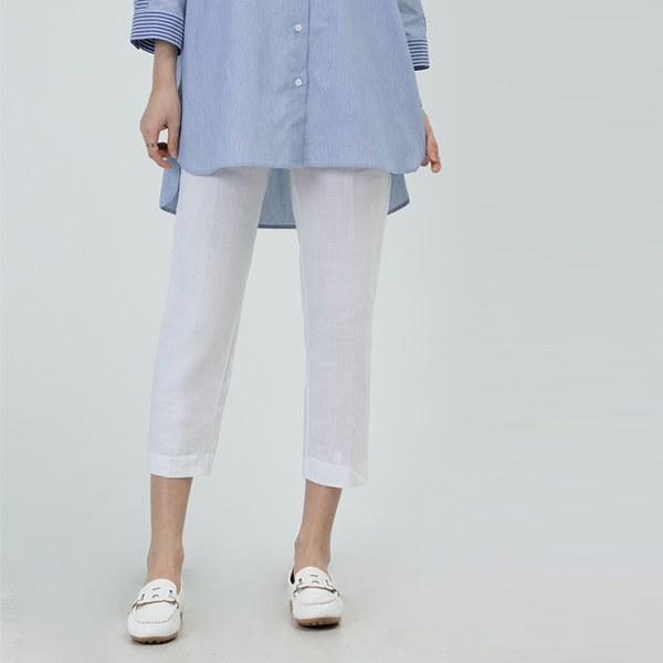 PTZ3932 Sun Linen Flat Pants