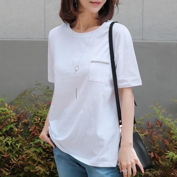 TBZ3153 Moncell Sequin Pocket T-shirt