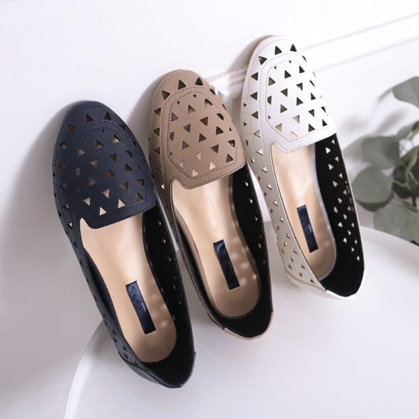 YY-SH267 Jane Punching Flat Shoes