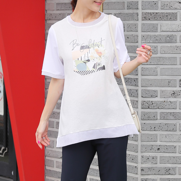 TBZ3526 Benny Printing Color Matching T-shirt