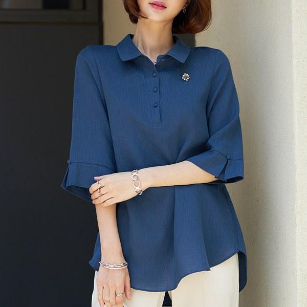 TBA3140 Noven Kong button blouse