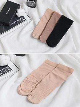 [7Y-AC053] (1 + 1) Simple line low socks