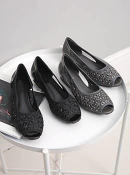 [YY-SH156] Punching Tri Flat Shoes