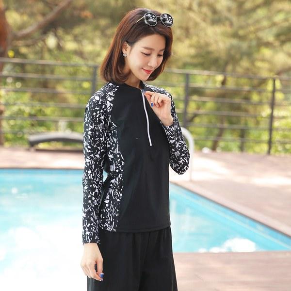 [YY-SW253] White Bloom Set Swimsuit